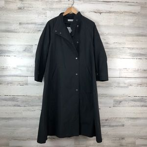 vtg Lord & Taylor 6 Oversize Snap Up Black Trench